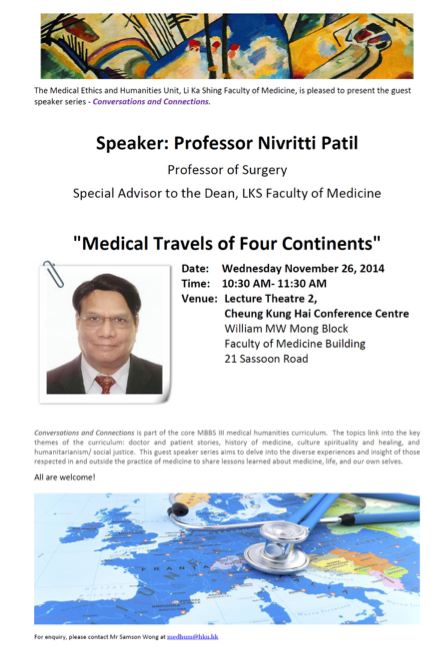 """""""Medical Travels of Four Continents"""""""