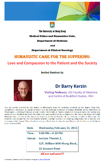 Humanistic Care For the Suffering: Love and Compassion to the Patient and the Society