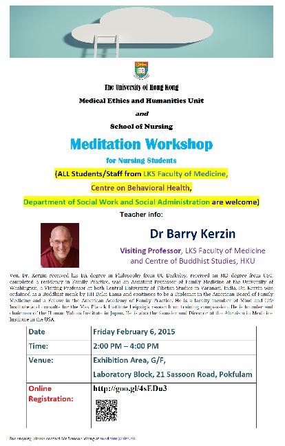 Meditation Workshop for Nursing Students