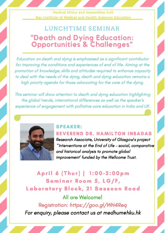 """""""Death and Dying Education: Opportunities & Challenges"""""""