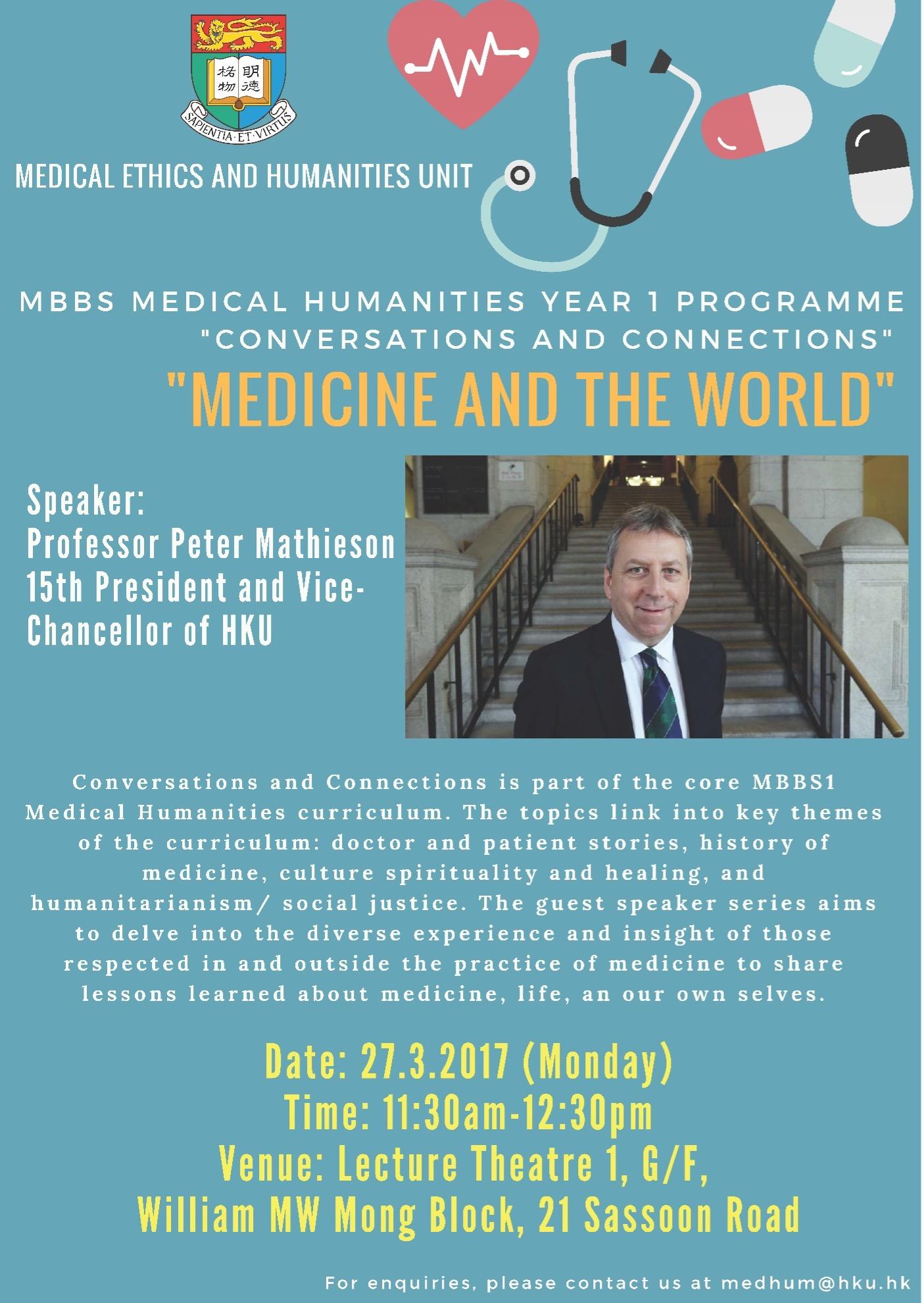 """Medicine And The World"""