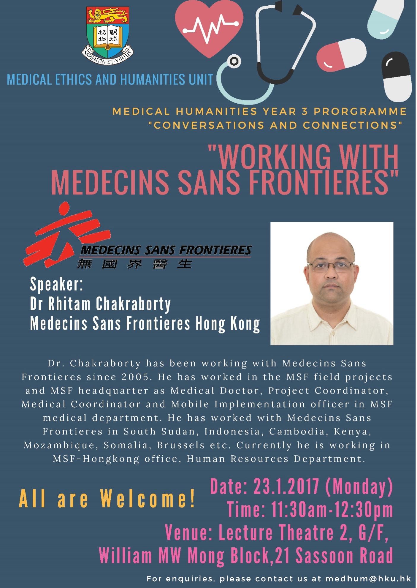 """""""Working with Medecins Sans Frontier"""