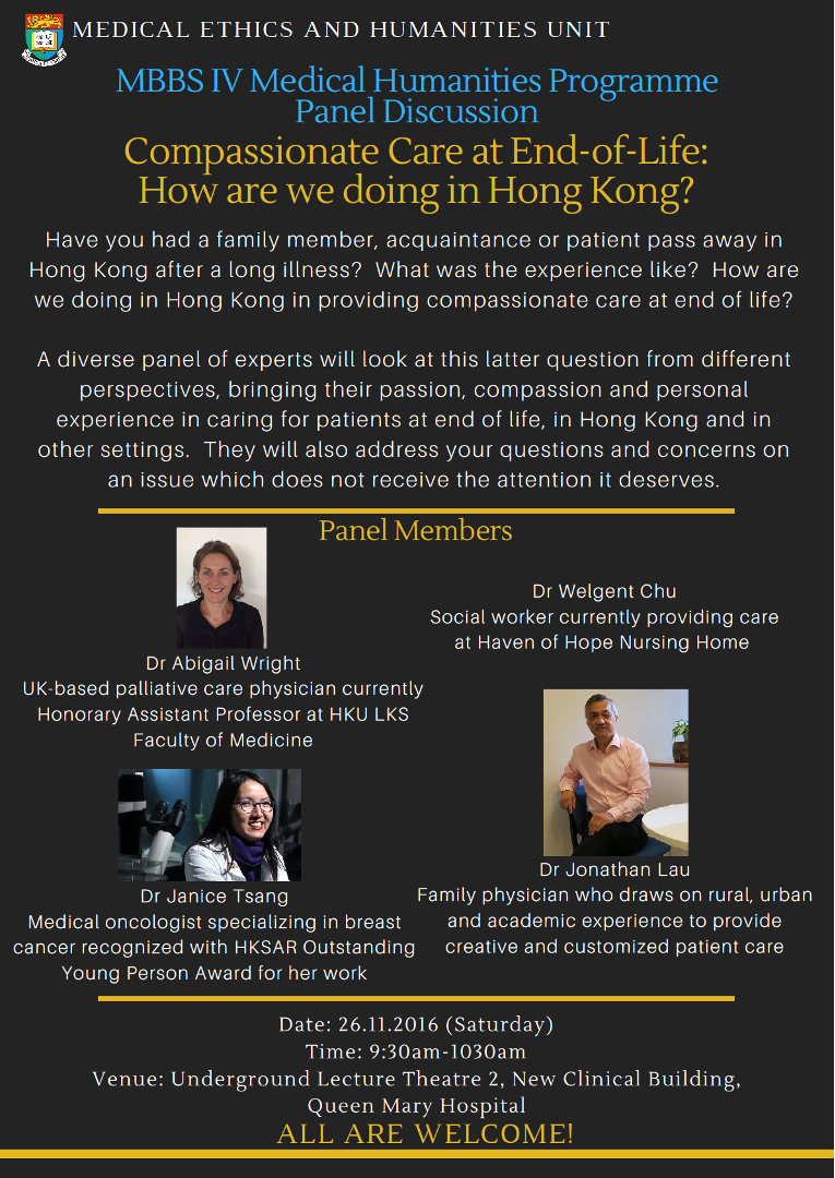 Compassionate Care at End-of-Life: How are we doing in Hong Kong?