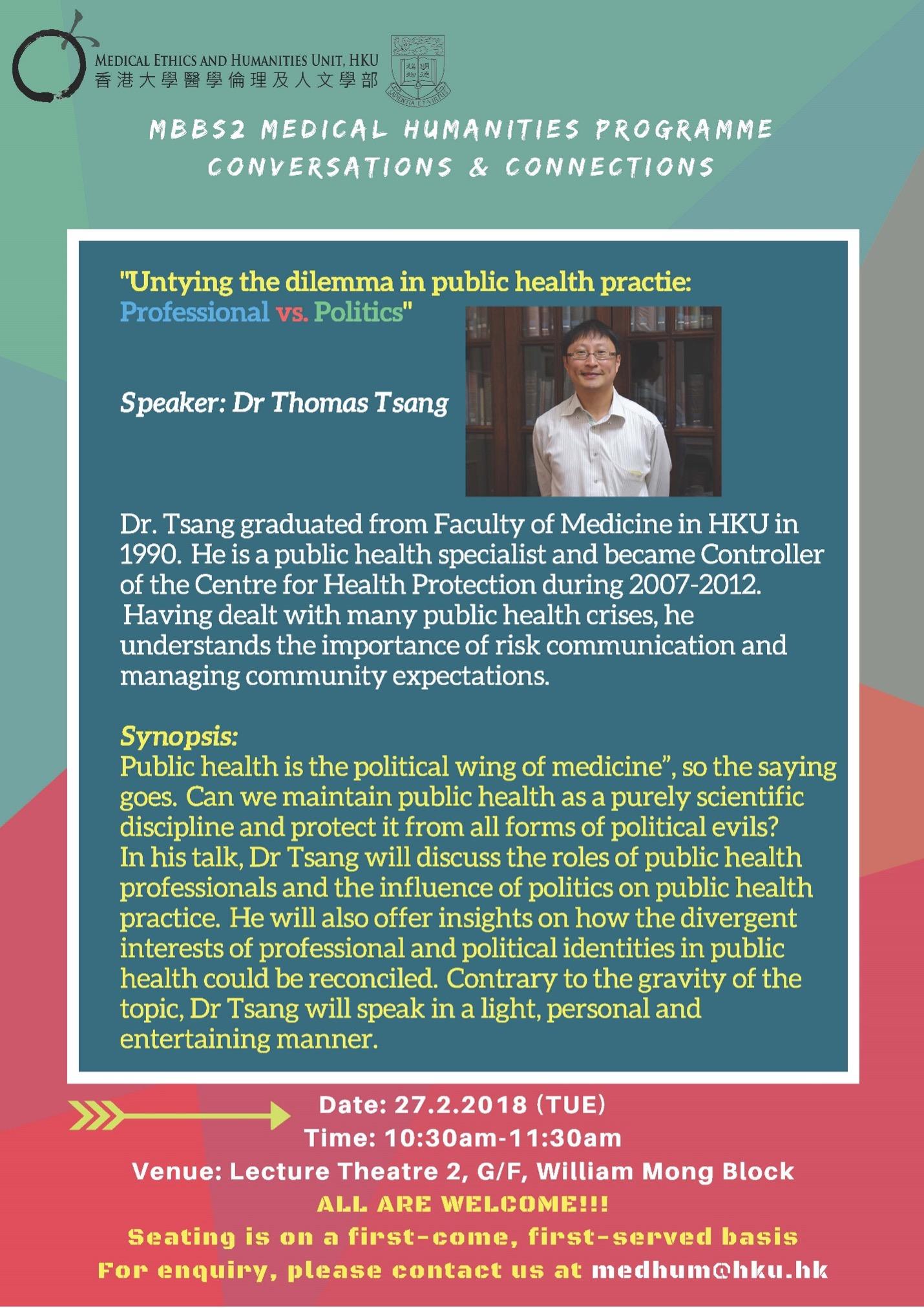 Untying the dilemma in public health practice: Professional vs. Politics