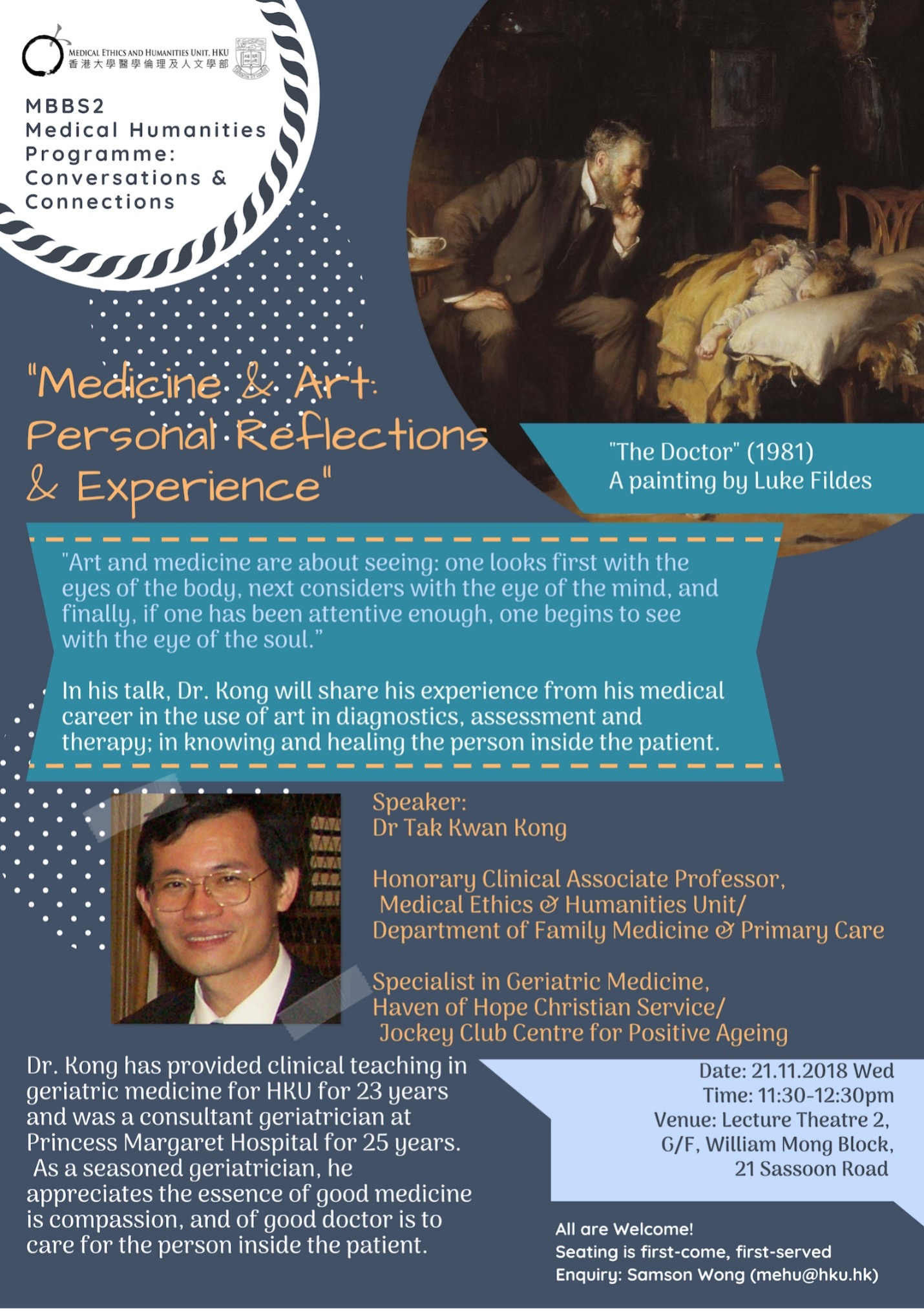 """""""Medicine & Art: Personal Reflections & Experience"""""""