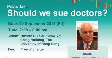 Public Talk: Should we sue doctors?