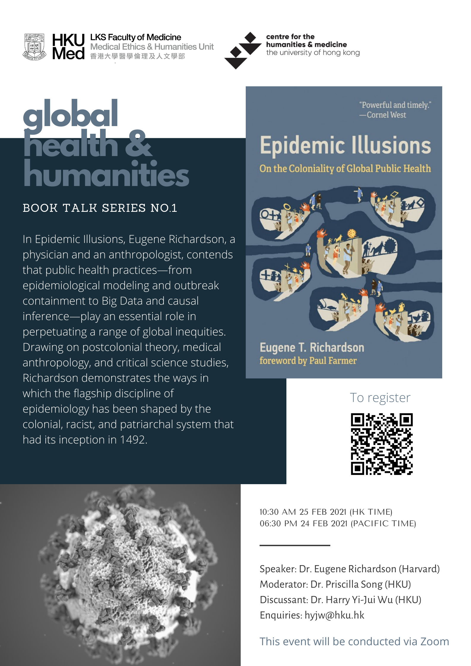Book Talk Series No.1- Epidemic Illusions: On the Coloniality of Global Public Health